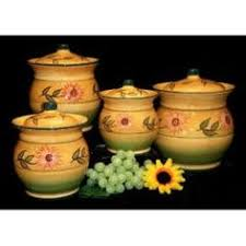 sunflower canisters for kitchen overstock keep your kitchen organized in classic style with