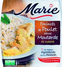 riz cuisiné émincés de poulet sauce moutarde riz cuisiné jpg