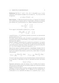 geometria differenziale dispense calcolo differenziale dispensa prof c maderna docsity