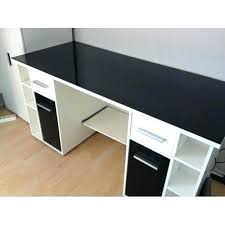 bureau blanc et attrayant bureau blanc et noir informatique whity beraue agmc dz