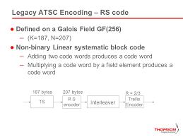 Trellis Encoder Atsc M H Mobile Broadcast For Portable Services Ppt Video Online