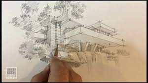 falling water of frank lloyd wright sketching by dinhhaikts youtube