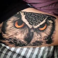 70 owl tattoos for men creature of the night designs