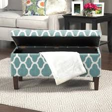 Homepop Storage Ottoman Decorative Storage Ottoman Large Teal Blue Decorative Storage