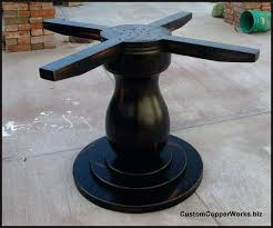 round dark wood pedestal dining table table pedestal bases black tb dining table base wood pedestal table