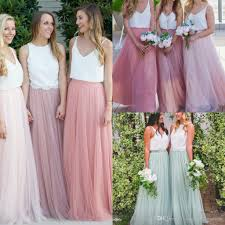 tulle skirt bridesmaid modest bridesmaid dresses without blouse tulle skirts tiered