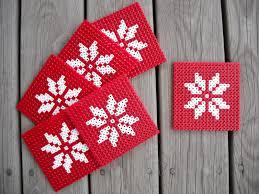 scandinavian style christmas ornaments using perler beads