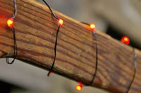 micro lights with timer 18 orange micro led fairy string lights battery operated 3 ft black