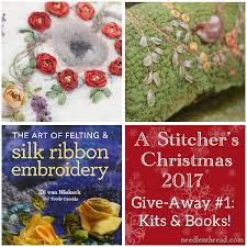 stitcher s 2017 give away 1 ribbon embroidery on felt