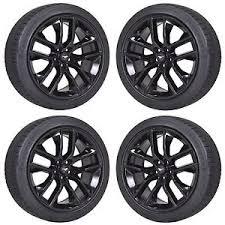 Black Mustang Black Rims 20