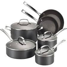 Cuisinart Dishwasher Safe Anodized Cookware Circulon Genesis 10 Piece Hard Anodized Cookware Set U0026 Reviews