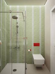 small minimalist bathroom decor with green and white tile