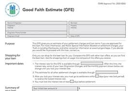 Estimate Mortgage Loan Approval by The Faith Estimate Gfe Describes Loan Fees And Mortgage