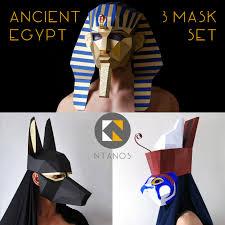 Anubis Halloween Costume Ancient Egypt Mask Pharaoh Anubis Horus Egyptian