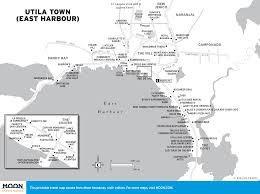 Map Of Roatan Honduras Dive Shops In Utila Honduras Moon Travel Guides