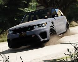 chrome range rover 2016 range rover sport svr add on replace gta5 mods com