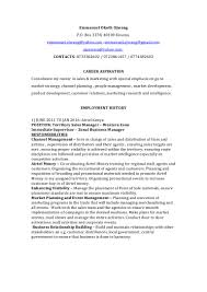 Sample Resume For Zonal Sales Manager by Emmanuel Okoth Ojwang Resume