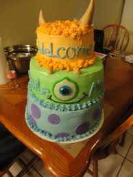 monsters inc baby shower cakes