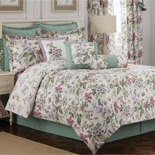 green bed set palace green butterfly floral comforter bedding