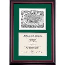 of michigan diploma frame michigan state diploma frames diploma display ocm