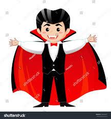 count dracula vampire boy halloween costume stock vector 732824845