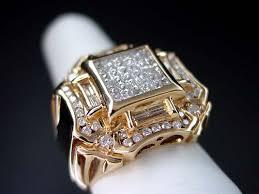 mens gold diamond rings 14k pink gold men s diamond ring men s diamond jewelry