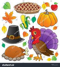 thanksgiving theme collection 1 vector illustration stock vector