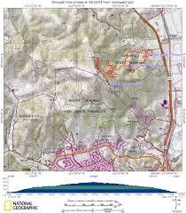 Mt Diablo State Park Map by Novato Area Hikes