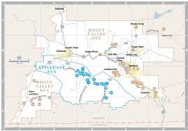 Oregon Ava Map by Rogue Valley And Applegate Valley 2010 Holiday Wine Guide