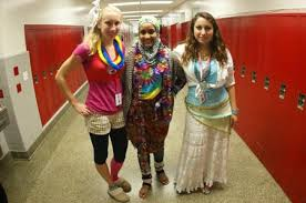 students get for wacky tacky day the a blast