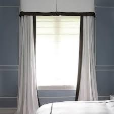 Greek Key Trim Drapes White Curtains With Black Trim Design Ideas