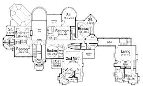 7 bedroom floor plans european style house plan 7 beds 9 50 baths 7618 sq ft plan 119 172