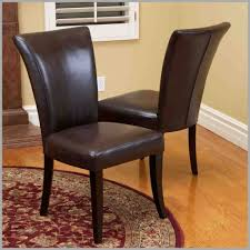 Dining Leather Chair Brown Leather Dining Room Chairs Intriguing As