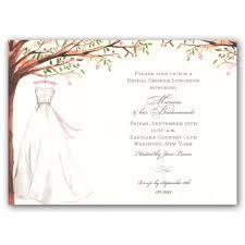vintage bridal shower invitations foliage wedding gown bridal shower invitations clearance