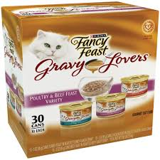 fancy feast gravy poultry beef feast variety pack