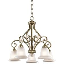 kichler track lighting kichler 43158sgd monroe 5 light downlight chandelier in sterling gold