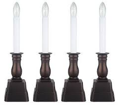 battery operated window lights bethlehemlights set of 4 batteryoperated window candles with timer