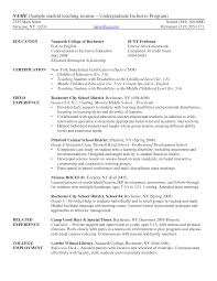Best Example Of A Resume by Student Teacher Resume Berathen Com
