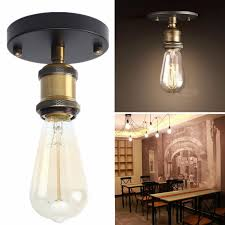 Rustic Sconce Vintage Retro Industrial Edison Ceiling Rose Light Rustic Sconce