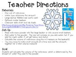 Water Challenge Directions It Snow With Instant Snow Monthly School Wide Science Challenge