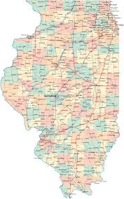 Route 66 Map Map Of Illinois Cities Illinois Road Map Detailed Political Map