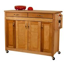 Butcher Block Kitchen Islands Catskill Craftsmen Natural Kitchen Cart With Butcher Block Top