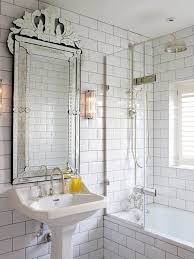 Mirror Bathroom Tiles Venetian Mirror Bathroom With Ornate Mirror Bathroom Transitional