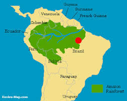 south america map rainforest size and location