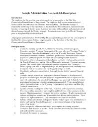 Resume Template For Executive Assistant Admin Executive Roles And Responsibilities Resume Free Resume