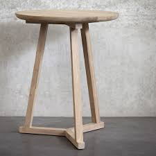 Oak Side Table Ethnicraft Naomi Teak Sidetable Solid Wood Furniture