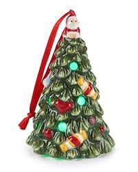 genuine spode tree led multicolor lighted ornament