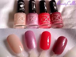 beautycallls rimmel nail polish collection