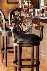 Counter Stools With Backs Best by Furniture Mesmerizing Black Chrome Swivel Bar Kitchen Breakfast