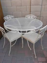 Retro Patio Furniture Sets Black Wrought Iron Table And Chair Sets Vintage Wrought Iron